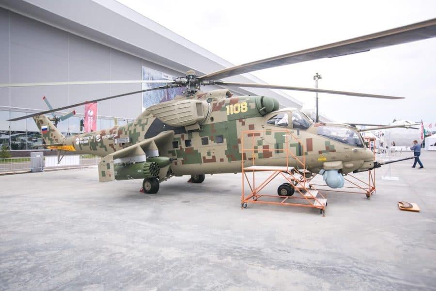 Russian helicopters stellt modernisierte mi 35 aus aerobuzz.de